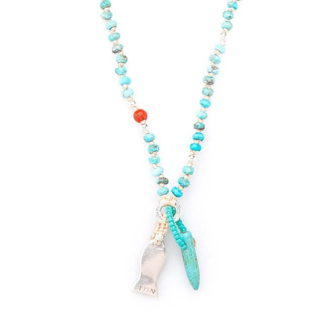Small Fish Turquoise Necklace-0