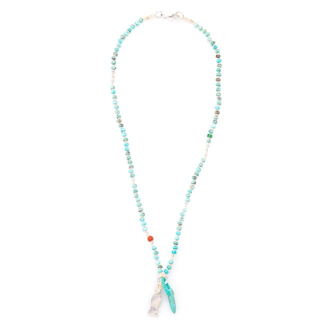 Small Fish Turquoise Necklace-396