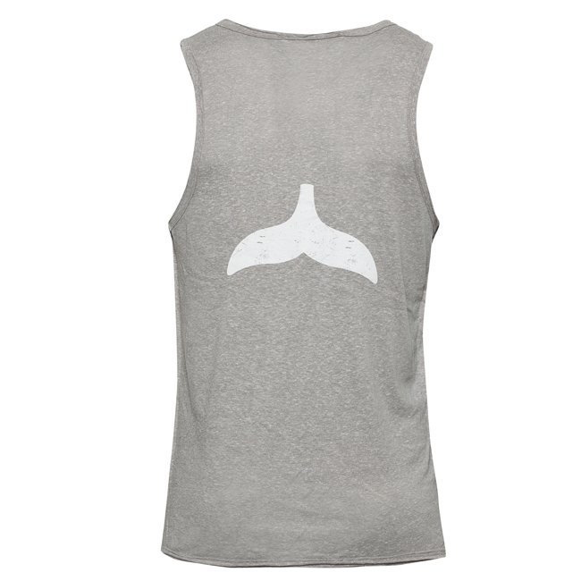 Whale Tail Men Sleeveless Top-842