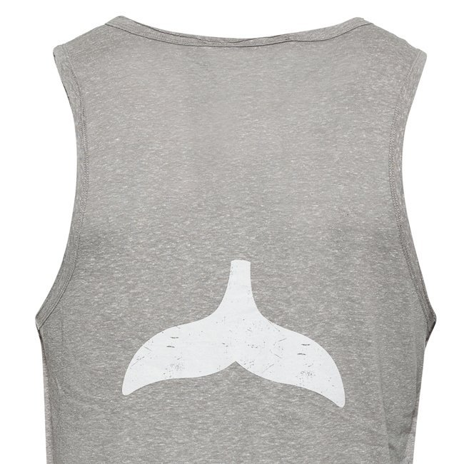 Whale Tail Men Sleeveless Top-844