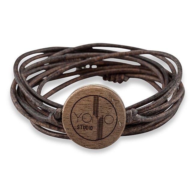 Concrete Leather Bracelet-847