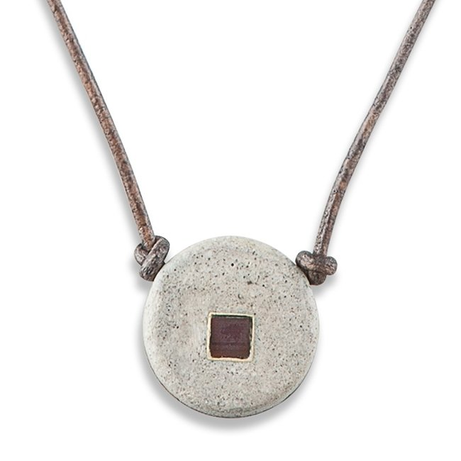 Concrete Nano Leather Necklace-0