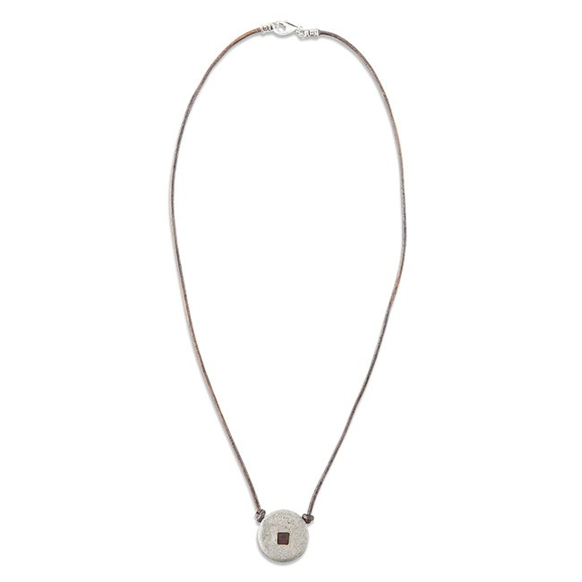 Concrete Nano Leather Necklace-877