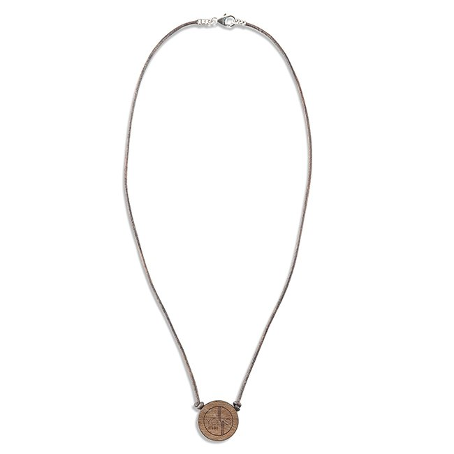 Concrete Nano Leather Necklace-880