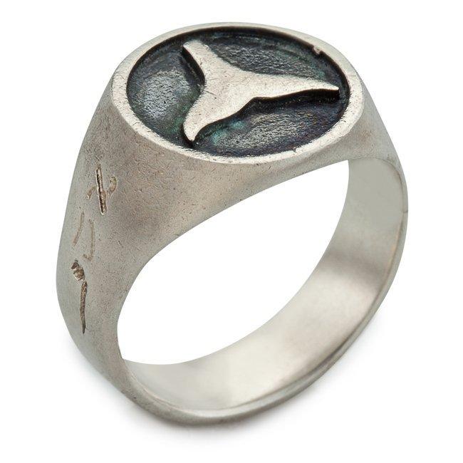 טבעת חותם עם סנפיר-733