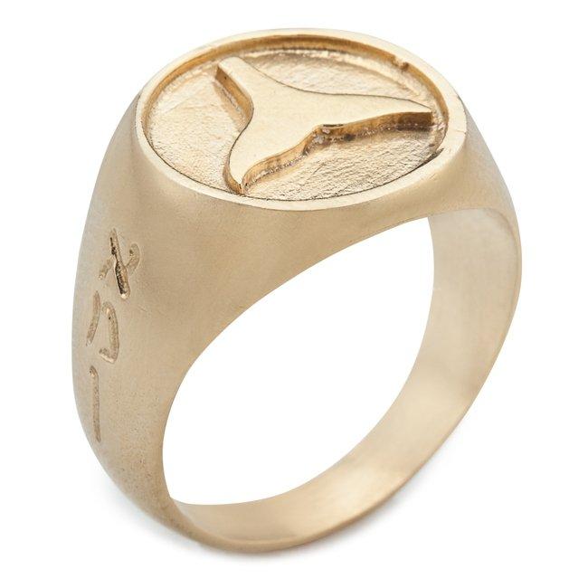 טבעת חותם עם סנפיר-735