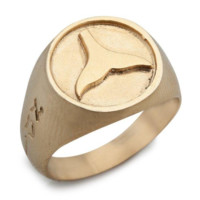טבעת חותם עם סנפיר-740