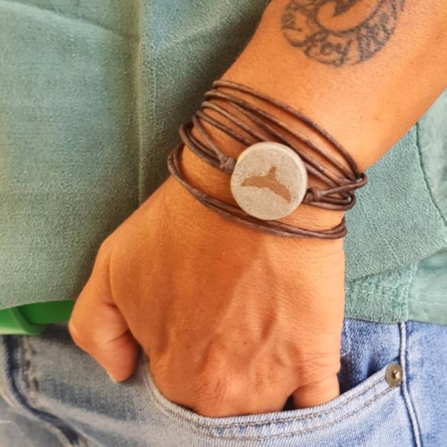 Concrete Leather Bracelet-845