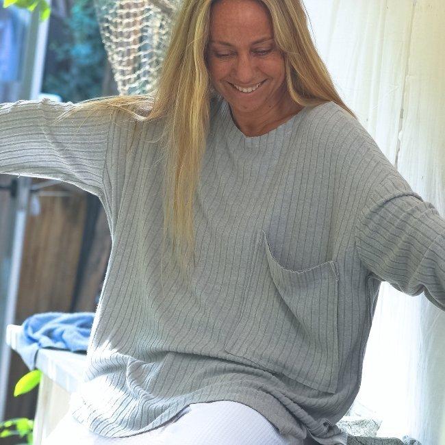 Oversized Pocket Sweater-1492