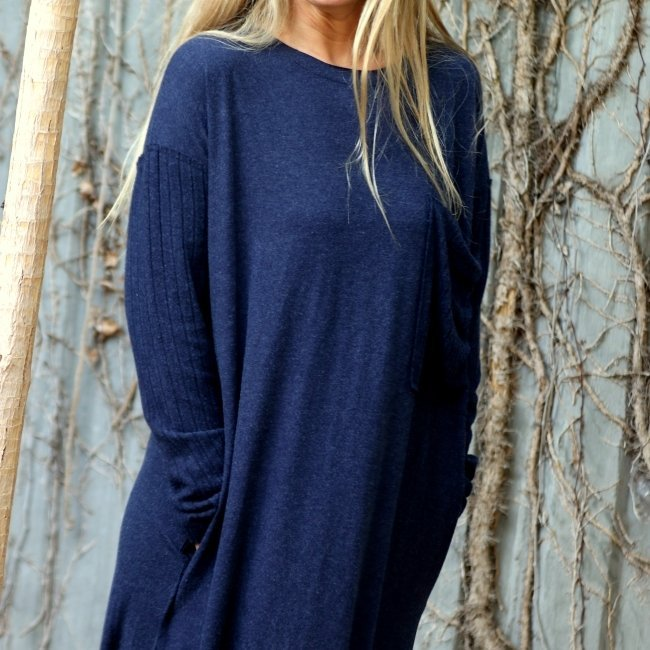 Oversized Pocket Dress-1503