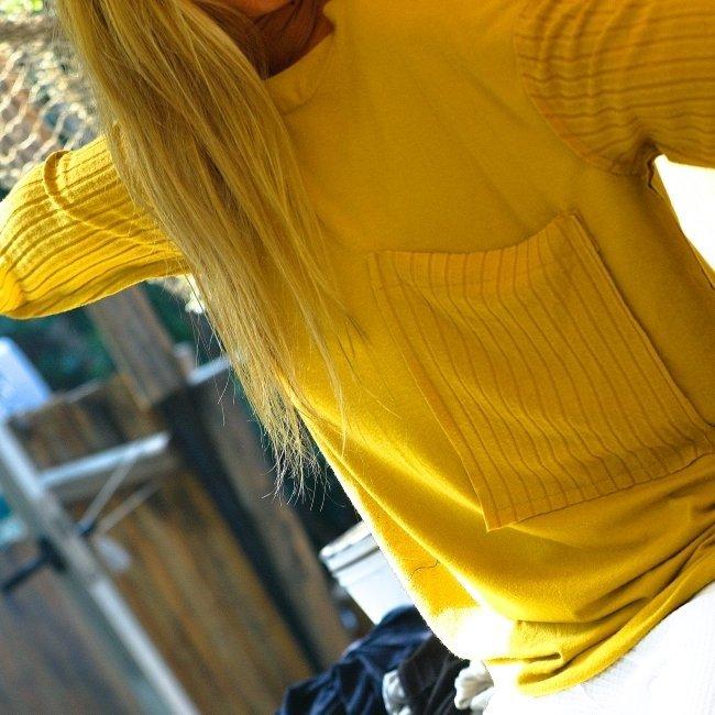 Oversized Pocket Sweater-1493
