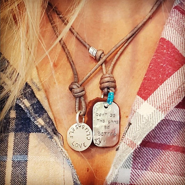 Personalized Leather Necklace-1686