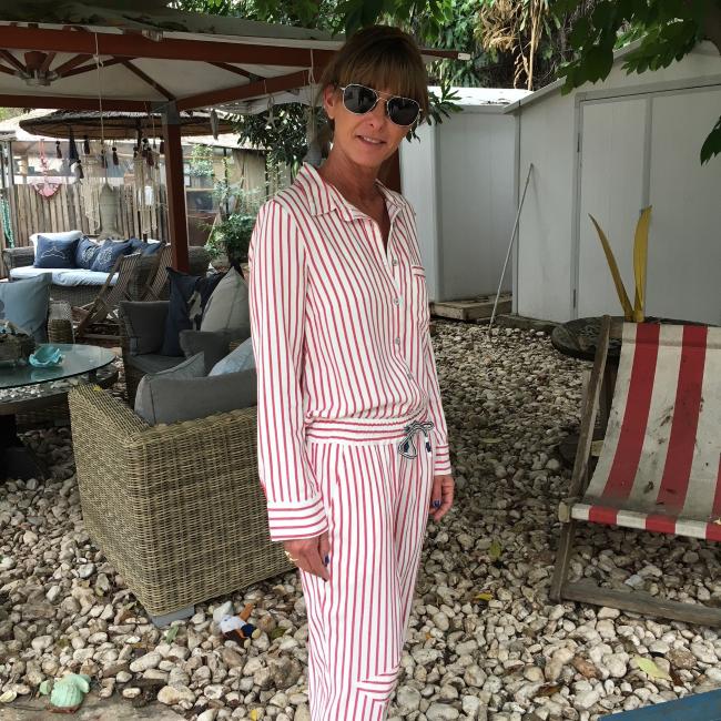 Women's Stripes Button-Down Shirts-2301
