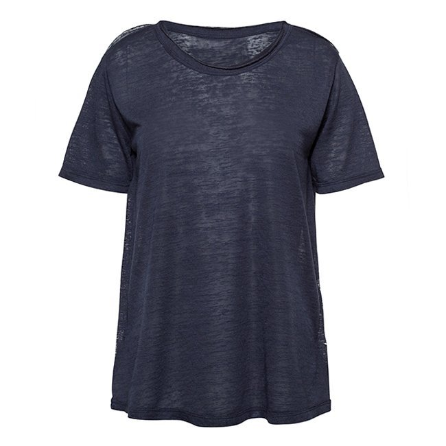 Women Stripes Whale Tail T-shirt-2330
