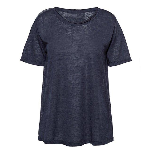 Women Stripes Whale Tail T-shirt-2457