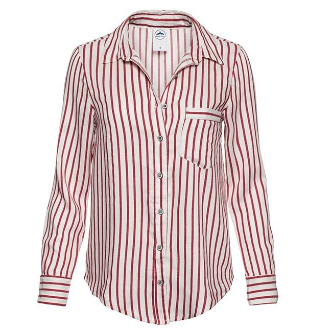 Women's Stripes Button-Down Shirts-2294