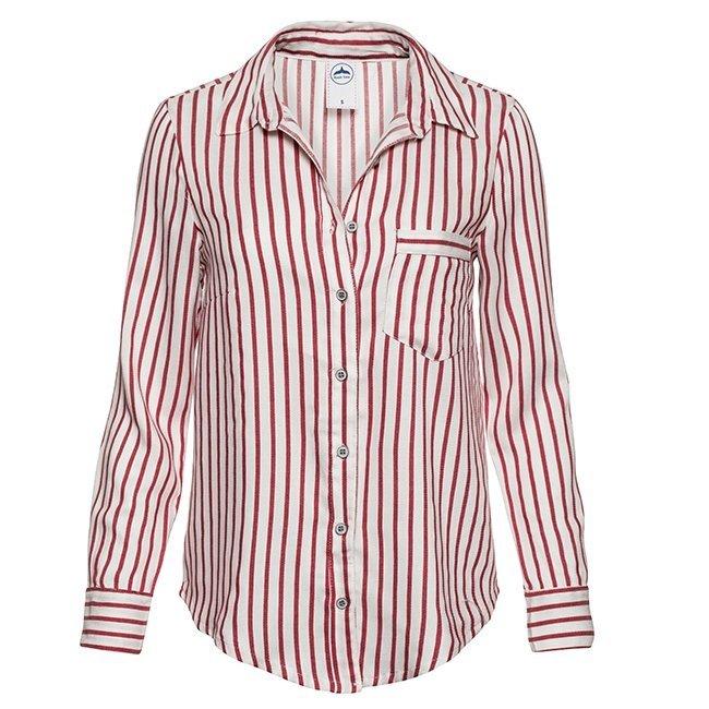 Women's Stripes Button-Down Shirts-0