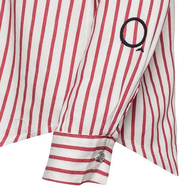 Women's Stripes Button-Down Shirts-2304