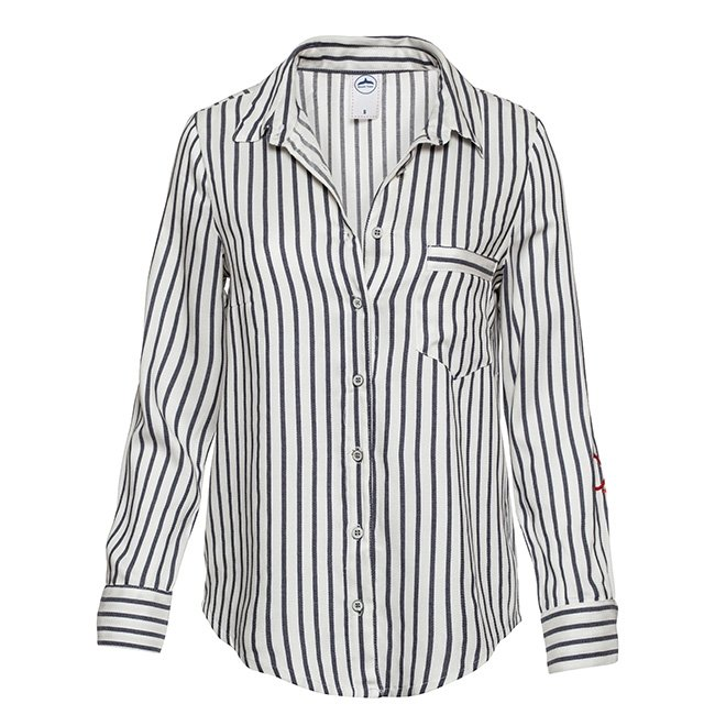 Women's Stripes Button-Down Shirts-2295