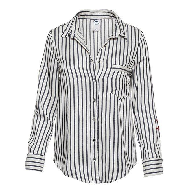 Women's Stripes Button-Down Shirts-2303