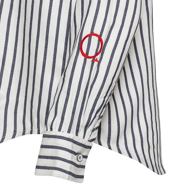 Women's Stripes Button-Down Shirts-2305