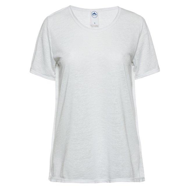 Women Stripes Whale Tail T-shirt-2459