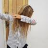 Women's Stripes Button-Down Shirts-2299