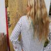 Women's Stripes Button-Down Shirts-2300