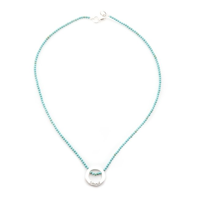 Ocean Circle Beads Necklace-2180