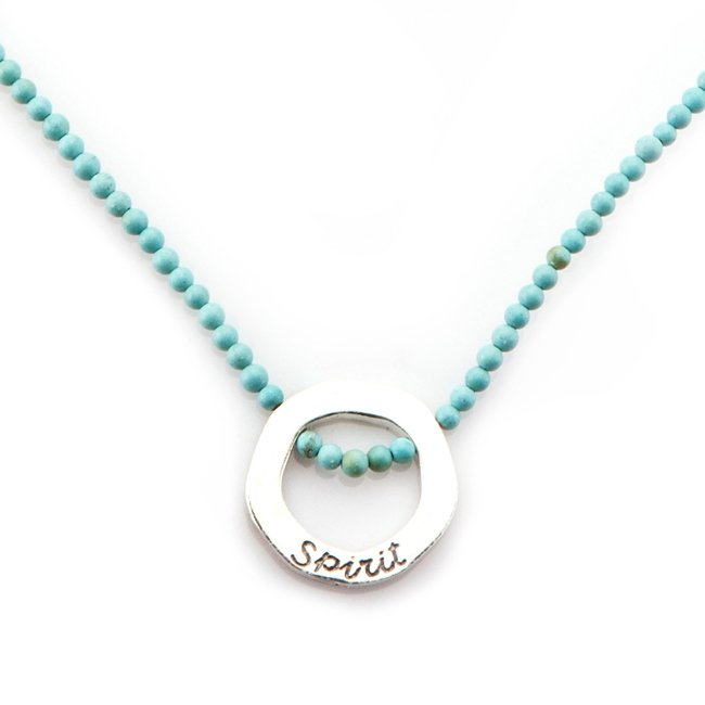 Ocean Circle Beads Necklace-0