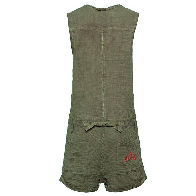 Muslin Short Jumpsuit-3011