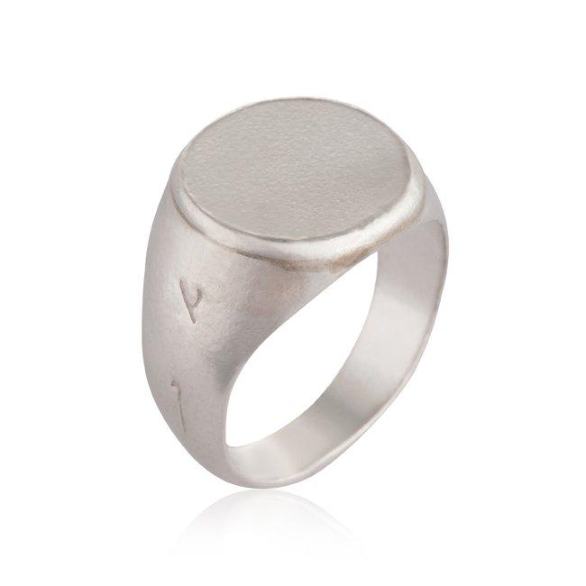 טבעת חותם חלקה-0