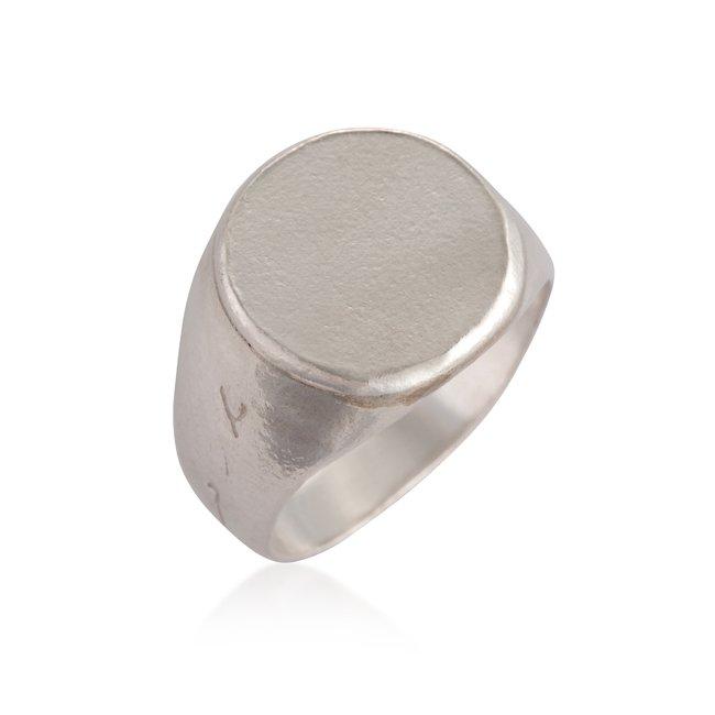 טבעת חותם חלקה-3086