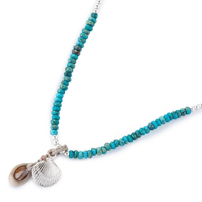 Mini sea Shell Turquoise Necklace-0