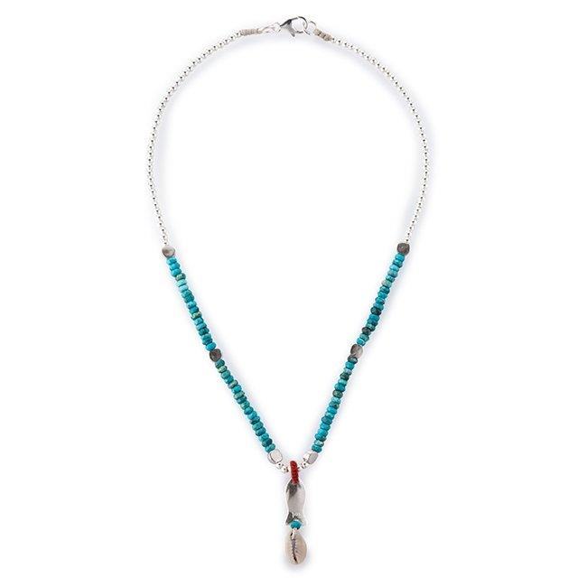 Mini Fish Turquoise Necklace-3209
