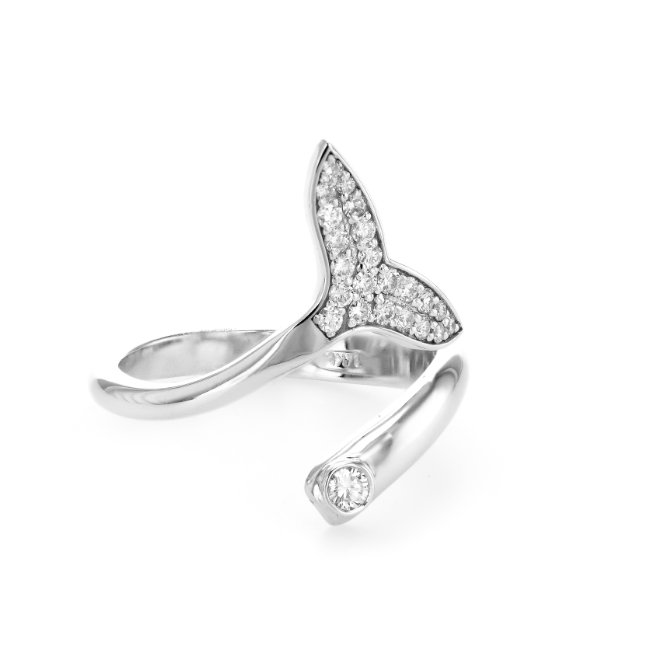 Diamonds Whale Tail Ring-0