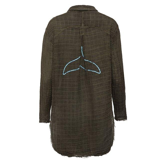 Women's Muslin Button-Down Shirts-3833