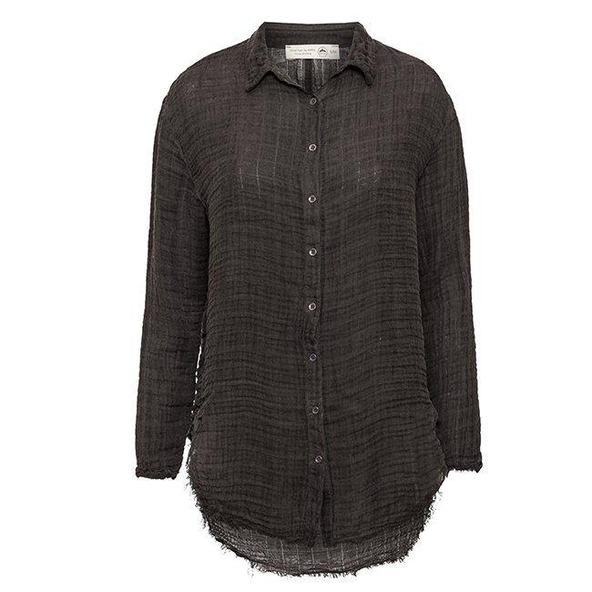 Women's Muslin Button-Down Shirts-3841