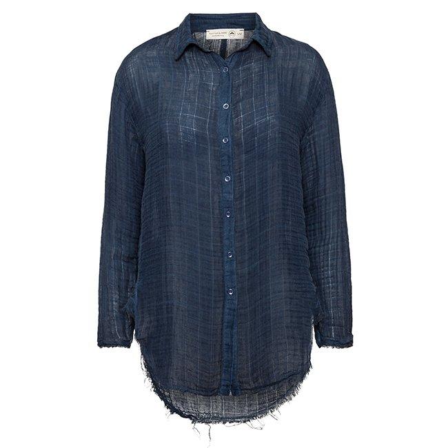 Women's Muslin Button-Down Shirts-3835