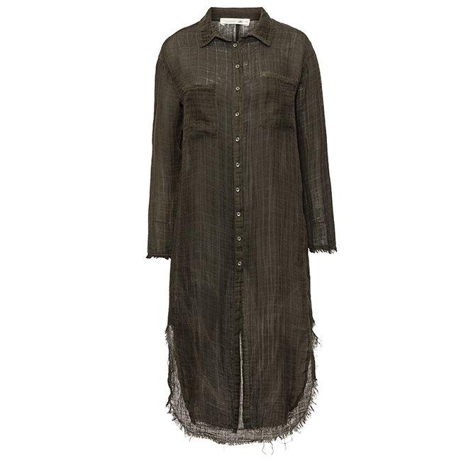 Muslin Button-Down Dress-3888