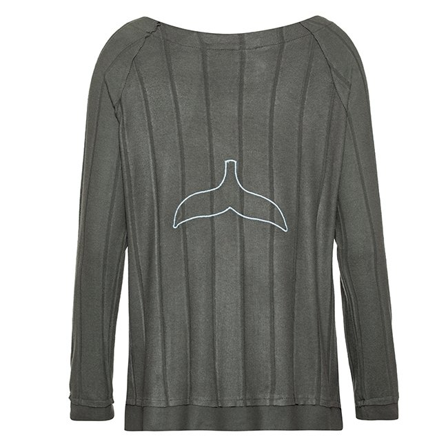 Women Whale Tail Sweater-3956