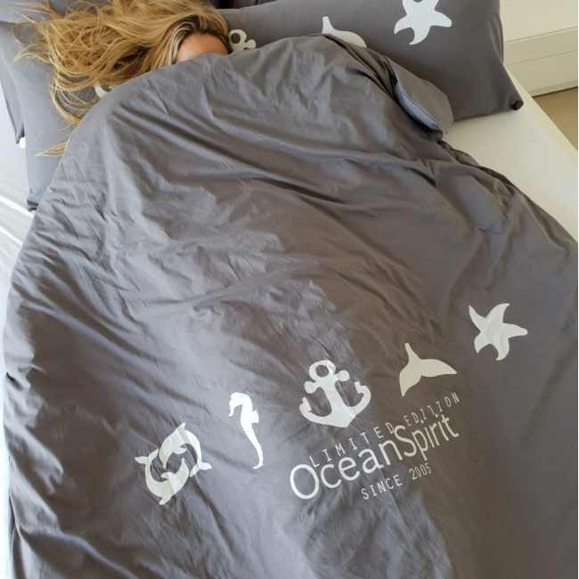 Ocean Symbols Double Blanket Cover-4183