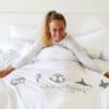 Ocean Symbols Double Blanket Cover-4184