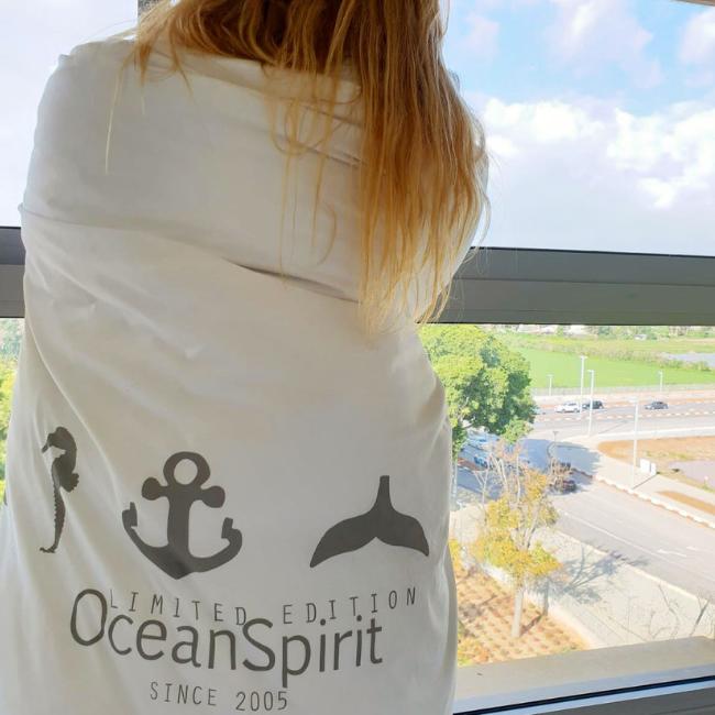 Ocean Symbols Double Blanket Cover-4186