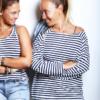 חולצת פשתן ארוכה פסים-4908