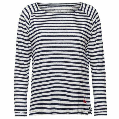 חולצת פשתן ארוכה פסים-4619