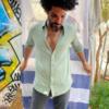 חולצת כפתורים יוניסקס פשתן-6434
