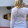 חולצת וי ארוכה עם סנפיר בגב-6098