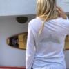 חולצת וי ארוכה עם סנפיר בגב-6103