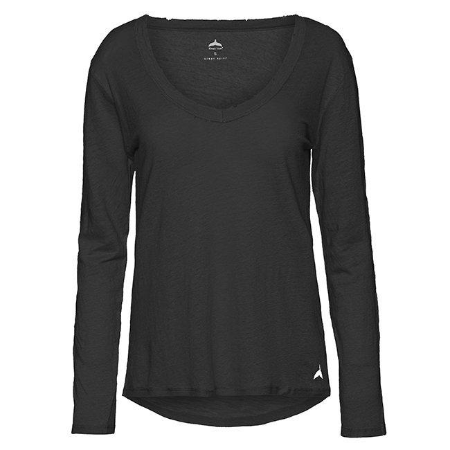 חולצת וי ארוכה פשתן-6217